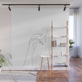 Hands line drawing illustration - Grace Wall Mural