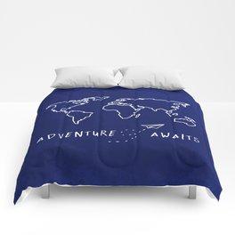Adventure Map - Navy Blue Comforters