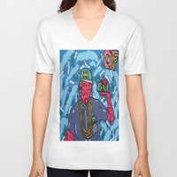 odd future V-neck T-shirts featuring ODD FUTURE by TheArtGoon