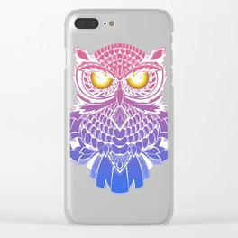 Fire eyes owl Clear iPhone Case