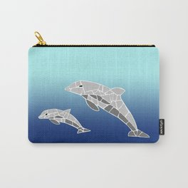 Vector Dolphins Mosaic Carry-All Pouch