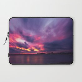 Vibrant explosion of color at Sunset at Anse Vata Bay in Noumea Laptop Sleeve