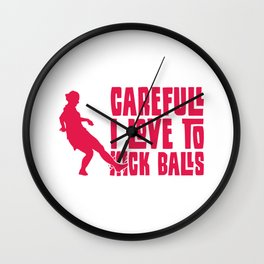 Love to Kick Balls Soccer Gifts For Soccer Players Wall Clock