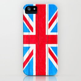 Rough And Worn British Union Jack Flag iPhone Case