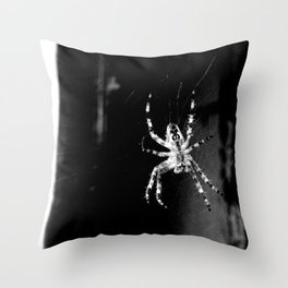 Spider in Amsterdam Throw Pillow