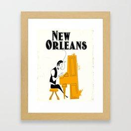 New Orleans honky tonk. Framed Art Print