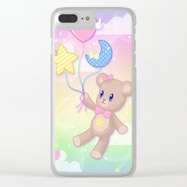 Floating Through Dreamland Clear iPhone Case