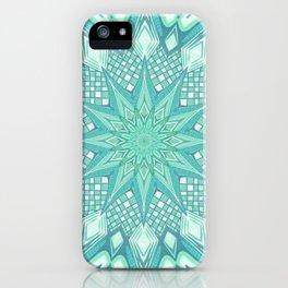 Burst Mandala Turquoise iPhone Case