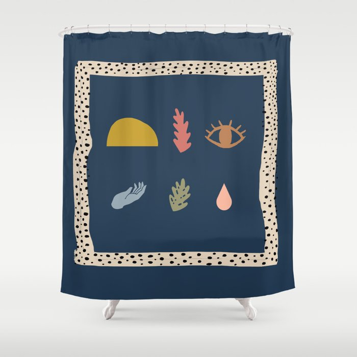Elements #3 Shower Curtain