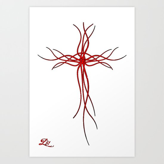 Cross Of The Warrior Art Print
