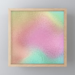 Simply Metallic in Iridescent Rainbow Framed Mini Art Print