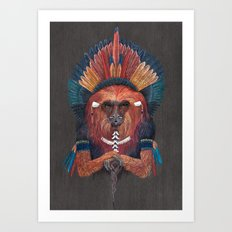 Monkey Tribal Art Print