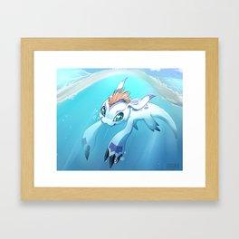 Gomamon Framed Art Print
