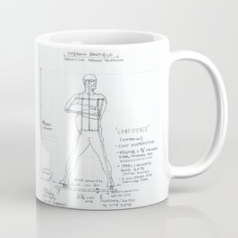 Confidence Drawing, Transitions through Triathlon Coffee Mug