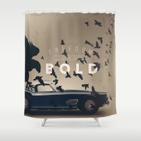 ferrari Shower Curtains featuring Ferrari by Seventy Two Studio
