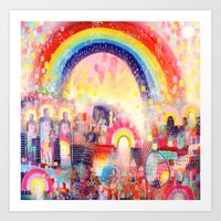Regnboga Brycg (Rainbow Bridge) Art Print