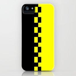 Yellow & Black iPhone Case