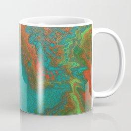 Rusty Jade: Acrylic Pour Painting Coffee Mug