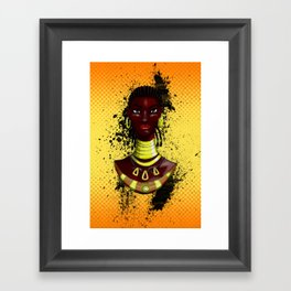 Mahink - L'Afro Queen by Sly Mido Framed Art Print