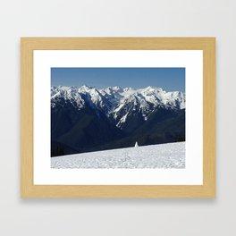 Snowman of the Olympics Framed Art Print