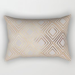 Modern elegant gray faux gold geometrical pattern Rectangular Pillow