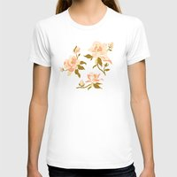 magnolia T-shirts featuring Magnolia Pattern by Teagan White