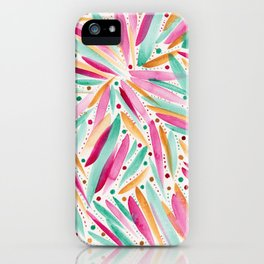Summer Vibes in stripes and dots iPhone Case