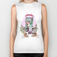 pastel goth Biker Tanks featuring Oh my GOTH! by Raquel Amo Art
