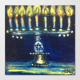 Chanukah Menorah Canvas Print
