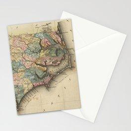 Vintage Map of North Carolina (1823) Stationery Cards
