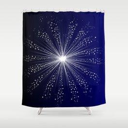 Exploding Sky Rocket Shower Curtain
