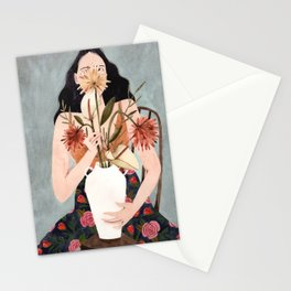 Hilda with vase Stationery Cards