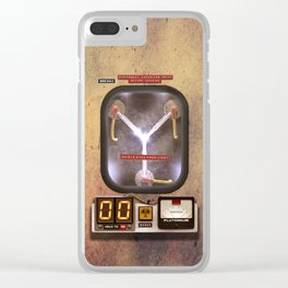 FLUX CAPACITOR Clear iPhone Case