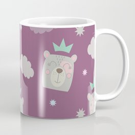 Bear Princess surrounded by clouds and stars Coffee Mug