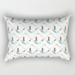 Bohemian geometrical pink green yellow leaves zigzag arrows Rectangular Pillow