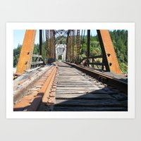 Old Train Bridge Art Print