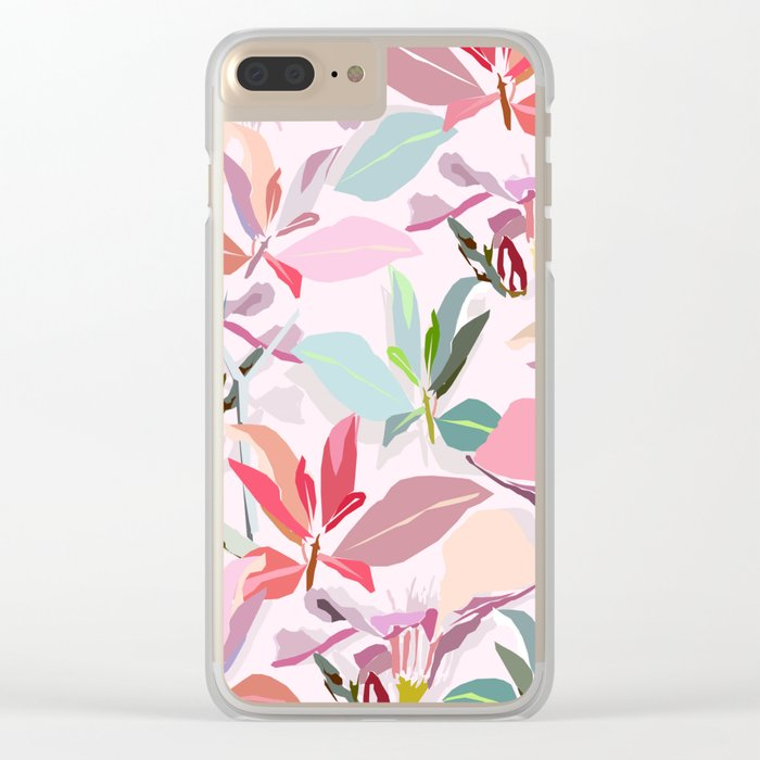 Ole Bouquet Clear iPhone Case