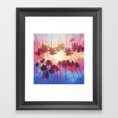 summer sunset palms Framed Art Print