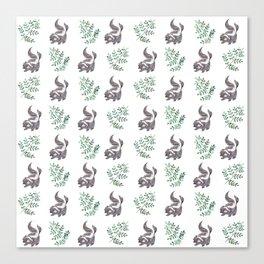 Skunk & Fern Canvas Print