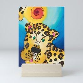 A Leopard named Louis Mini Art Print