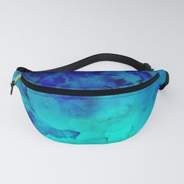 Mermaid paradise | blue ombre turquoise watercolor Fanny Pack