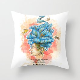 The Lady Isabella Throw Pillow