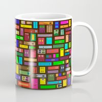 doors Mugs featuring Doors - Black by Finlay McNevin