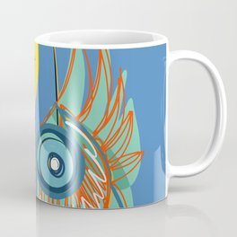 Abstract Symbol Red Sun in The Blue Sky Coffee Mug