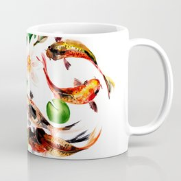 Koi Fish in Pond, Feng Shui Coffee Mug