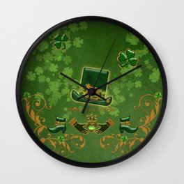 Happy st. patricks day Wall Clock