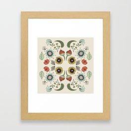 Flora Pattern I Light Framed Art Print