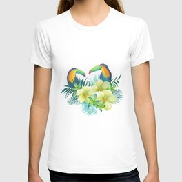 Tropical toucans T-shirt