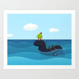 Game Hunter Art Print