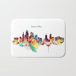 Kansas City Skyline Silhouette Bath Mat